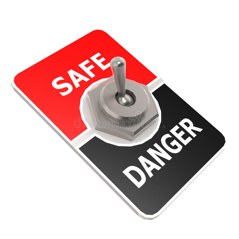 Safe toggle switch. Image with hi-res rendered artwork that could be used for any graphic design stock illustration