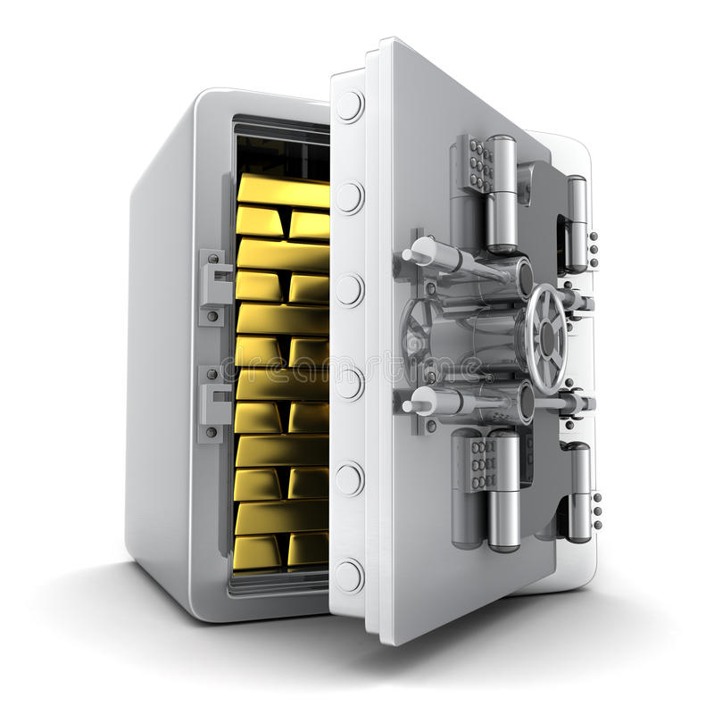 Safe und Gold stock abbildung