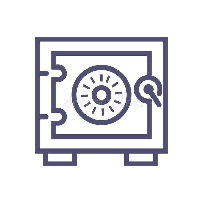 Safe vector icon. vector safe illustration icon for website or mobile apps royalty free illustration