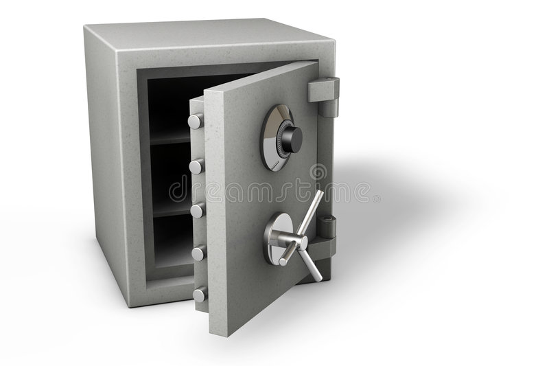 Safe on White stock illustration