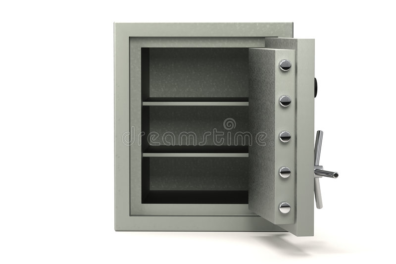 Safe on white. Bank safe isolated over a white background