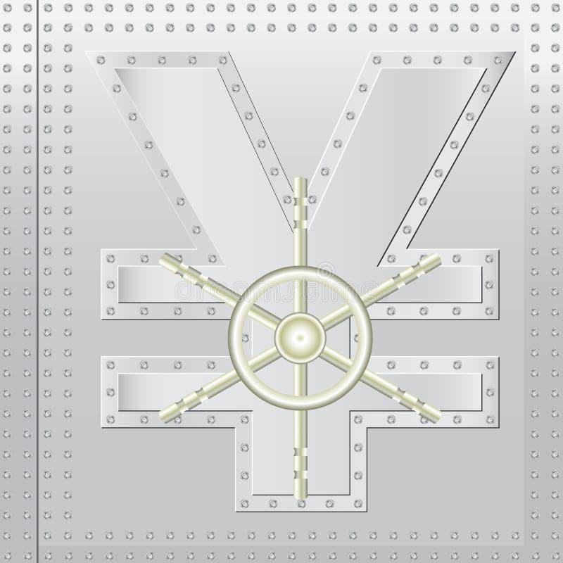 Download Safe yen stock vector. Illustration of drawer, door, account - 25869035