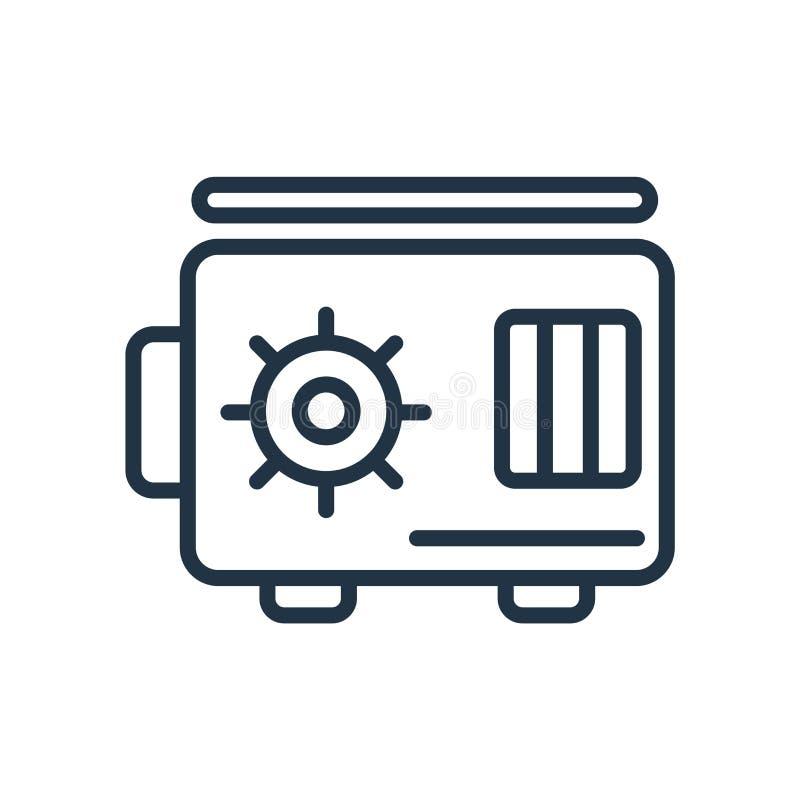 Safebox symbolsvektor som isoleras på vit bakgrund, Safebox tecken vektor illustrationer