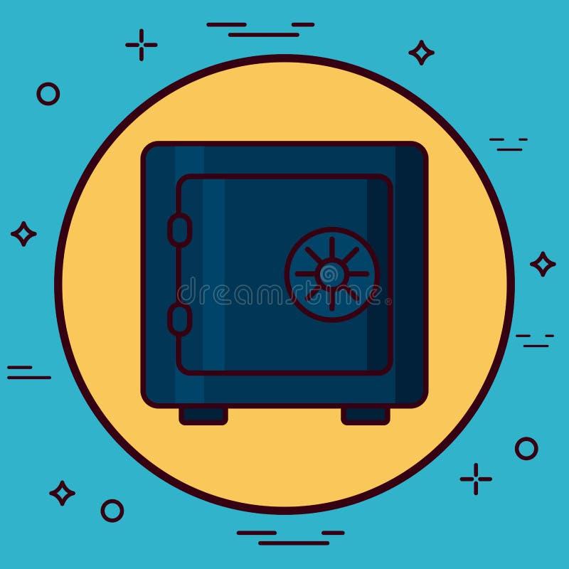 safeboxsymbolsbild vektor illustrationer