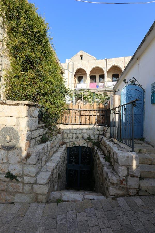 Safed - la ville de Kabbalists et d'artistes photos libres de droits
