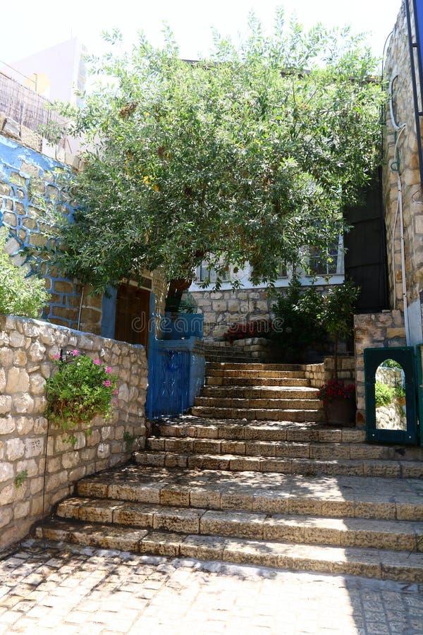 Safed - la ville de Kabbalists et d'artistes photos stock