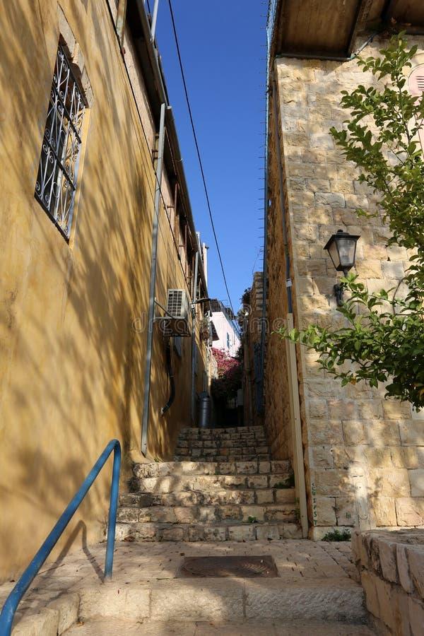 Safed - la ville de Kabbalists et d'artistes images stock