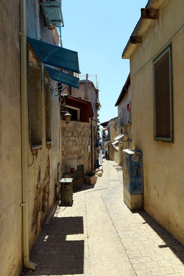 Safed - la ville de Kabbalists et d'artistes photographie stock