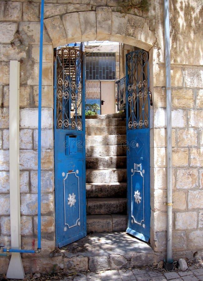 Safed Old City House entrance 2008 stock photography