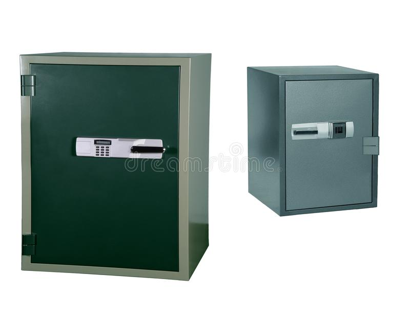 Safes lokalisiert auf Weiß stockbild