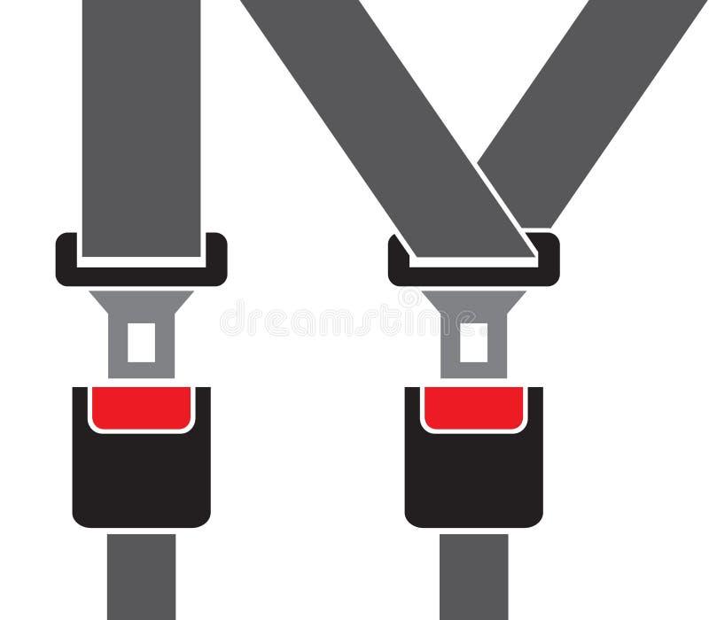 Safety auto seat belt vector illustration
