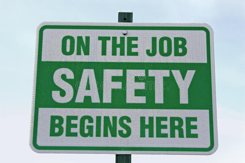 Safety begins here stock images