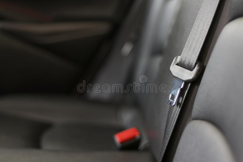 Safety belt inside the car. Seat belts are life saving devices from accidents. royalty free stock photos