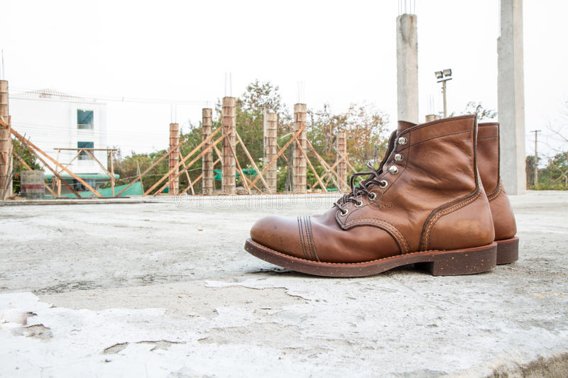 Safety boots royalty free stock image