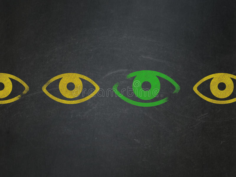 Safety concept: eye icon on School Board royalty free stock photo