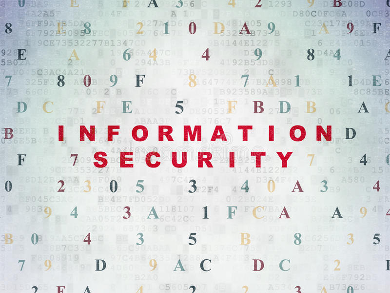 Safety concept: Information Security on digital stock photography