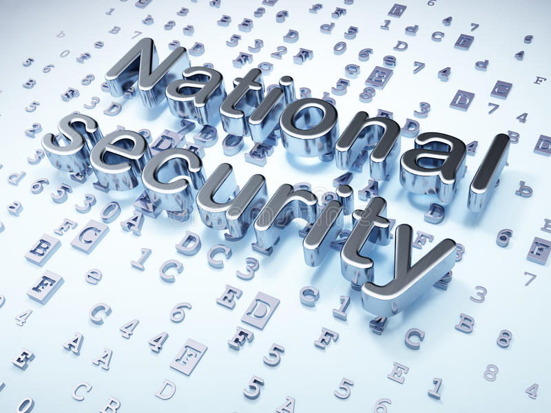 Safety concept: Silver National Security on stock photography