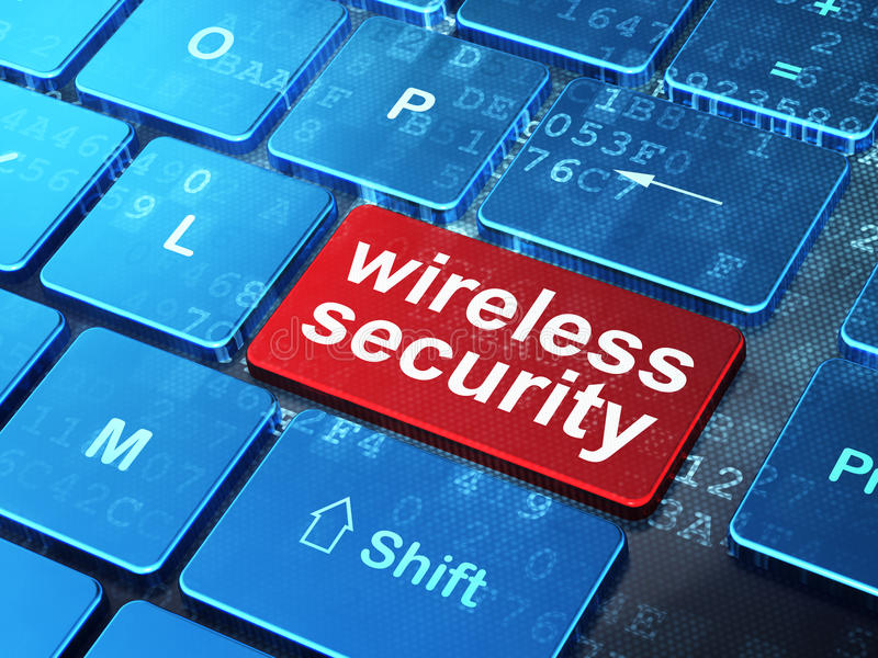 Safety concept: Wireless Security on computer keyboard background royalty free stock photography