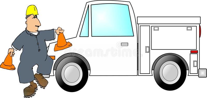 Safety Cone Man stock illustration