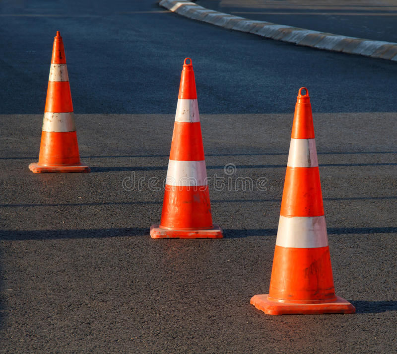 Safety Cones Stock Photos