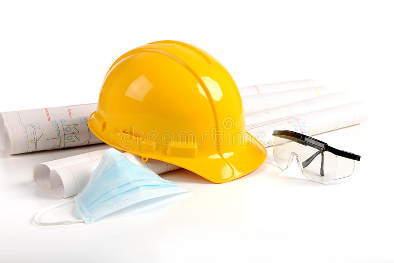 Safety in Construction Concept stock photos