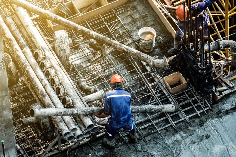 Safety construction workers royalty free stock image