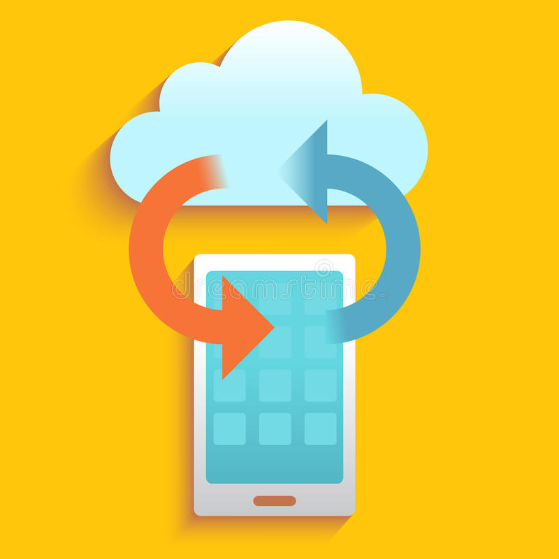 Safety data from smart phone stock illustration