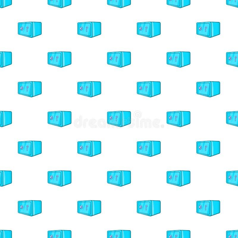 Safety deposit box pattern, cartoon style. Safety deposit box pattern. Cartoon illustration of safety deposit box vector pattern for web royalty free illustration