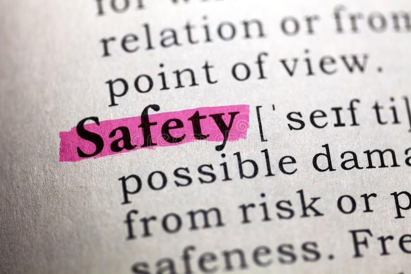 Definition of the word Safety royalty free stock photos