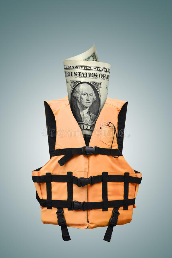 Safety dollars stock images