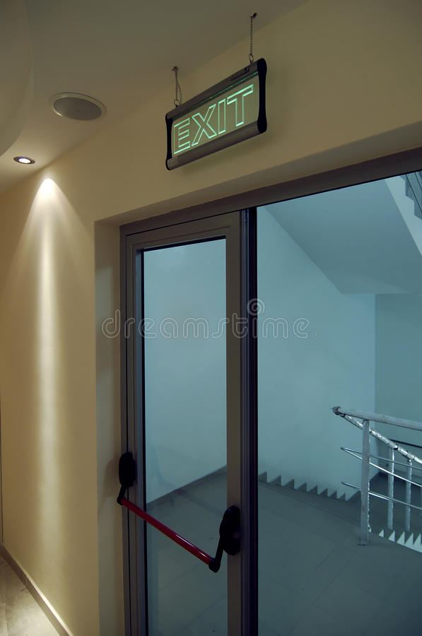 Safety door exit royalty free stock photography