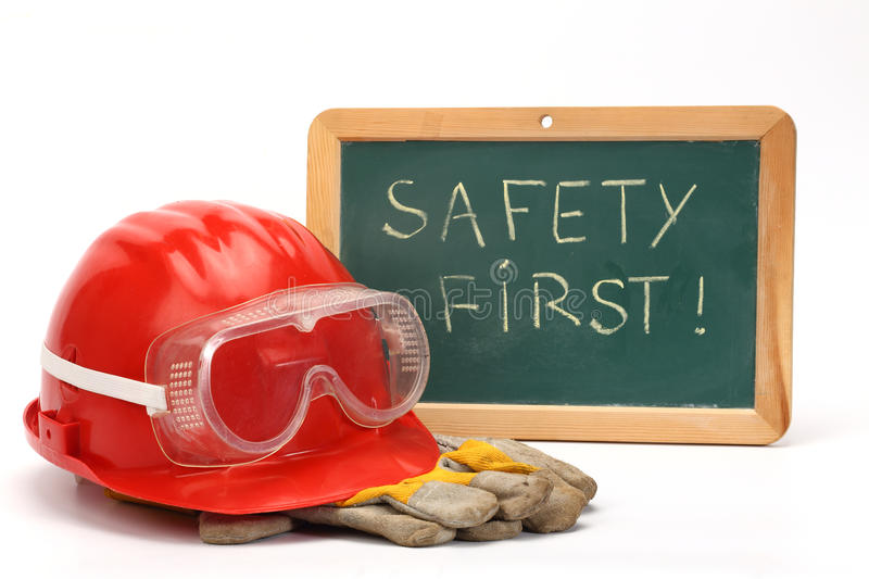 Safety first concept royalty free stock photo