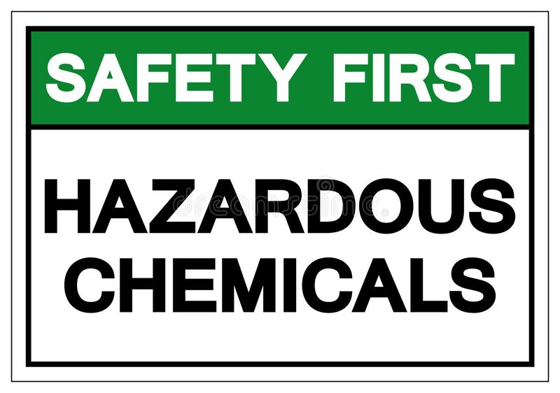 Safety First Hazardous Chemicals Symbol Sign, Vector Illustration, Isolate On White Background Label. EPS10 vector illustration