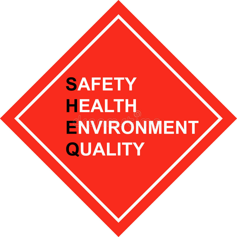 Free Safety First - SHE&Q Sign - Vector Stock Photos - 11617963