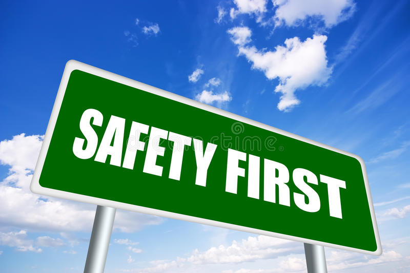 Safety First Sign Stock Images