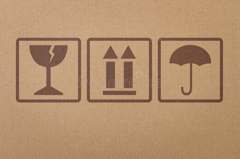 Safety, fragile icons royalty free stock photography