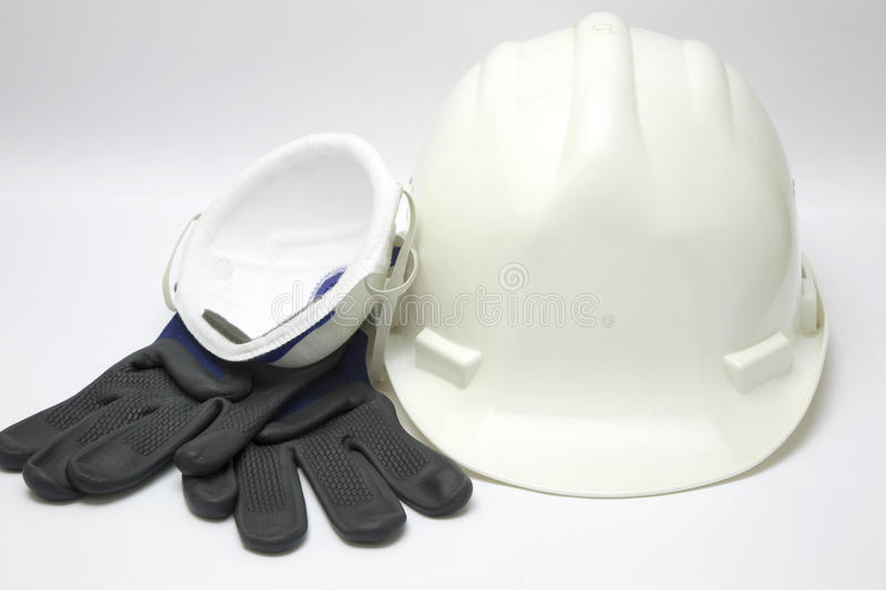 Safety gear kit stock image