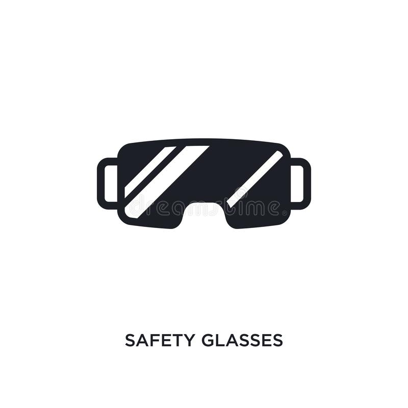 safety glasses isolated icon. simple element illustration from winter concept icons. safety glasses editable logo sign symbol stock illustration