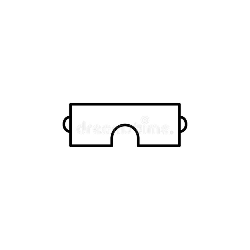Safety glasses simple linear icon stock illustration
