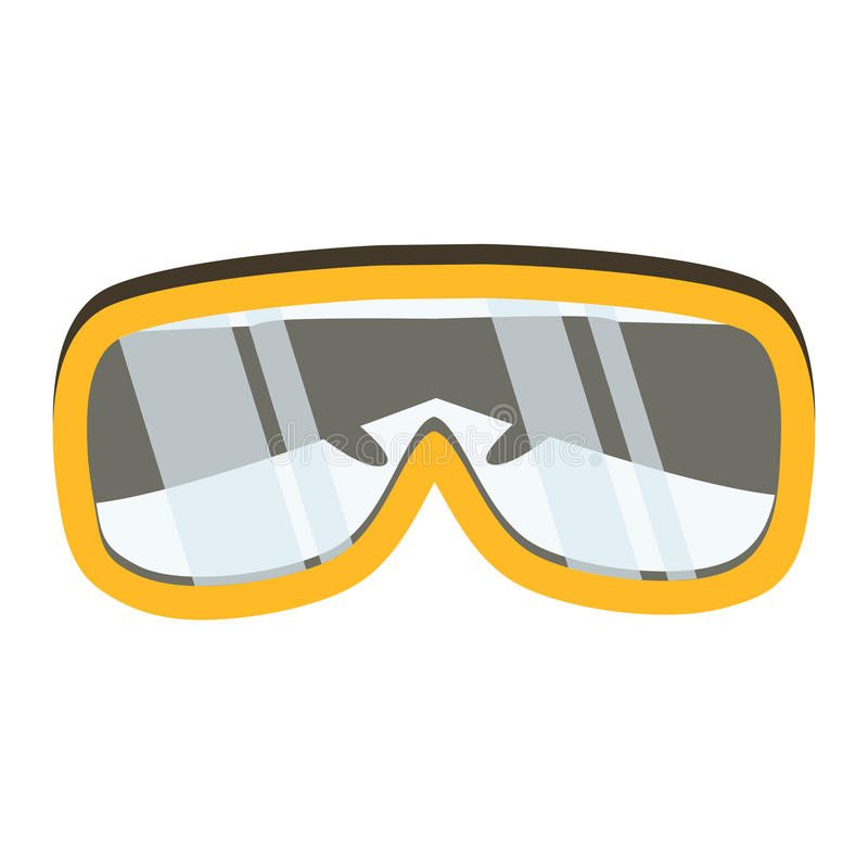 Safety glasses tool icon. Industrial or household instrument stock illustration