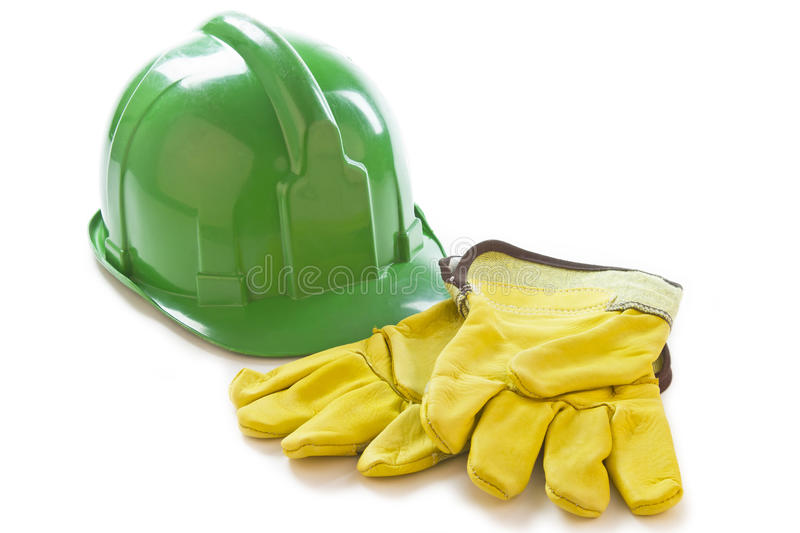 Download Safety gloves and helmet stock image. Image of safety - 32230907