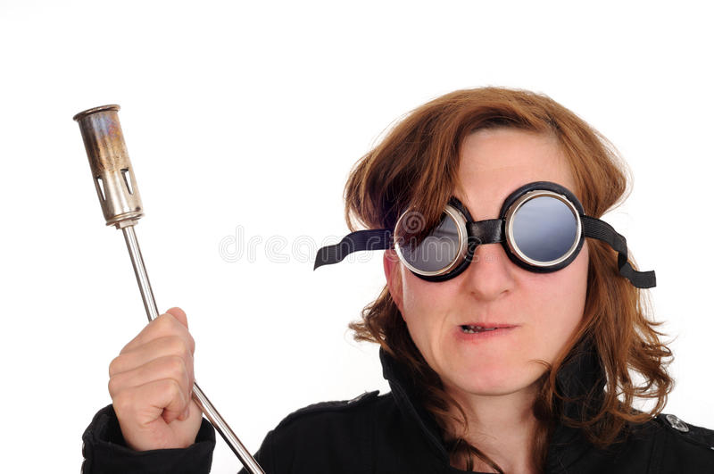 Download Safety Goggles, Blowtorch Royalty Free Stock Images - Image: 9866019