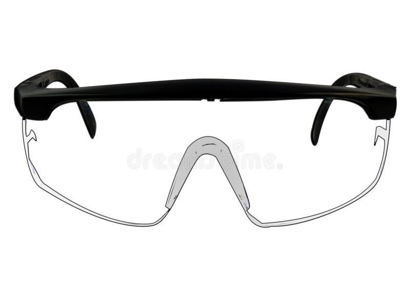 Safety Goggles Glasses Illustration On White stock illustration
