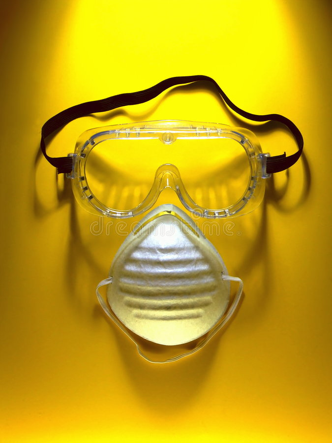 Safety Goggles and Mask royalty free stock images
