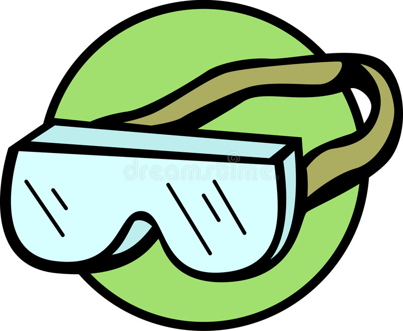safety goggles with strap vector illustration stock vector rh dreamstime com