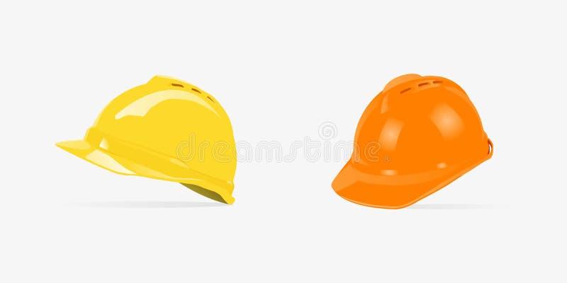Safety Helmet Construction 3D Logo, 3D Helmet. vector illustration