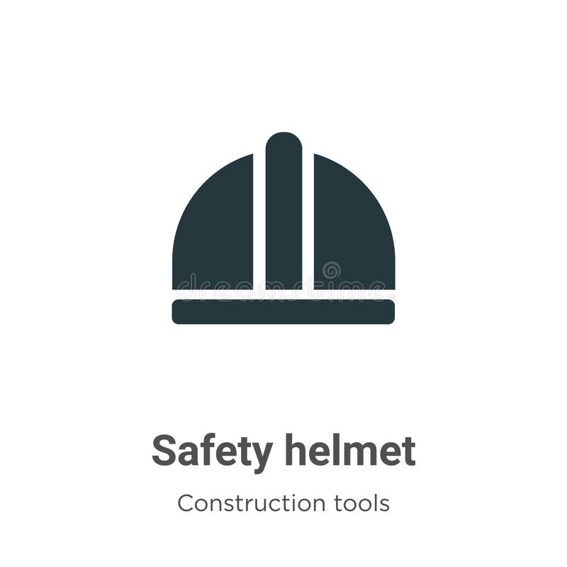Safety helmet vector icon on white background. Flat vector safety helmet icon symbol sign from modern construction collection for vector illustration
