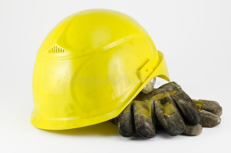 Download Safety Helmet And Work Gloves Stock Photo - Image: 25255808