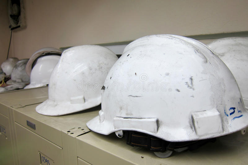 Safety helmets royalty free stock images