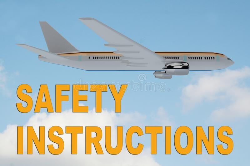 SAFETY INSTRUCTIONS concept stock illustration
